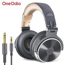 Oneodio auriculares estéreo con control por cable, para estudio de mezcla de graves, por encima de la oreja, plegables y cerradas, para DJ, teléfono y PC