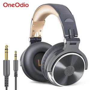 Image 1 - Oneodio auriculares estéreo con control por cable, para estudio de mezcla de graves, por encima de la oreja, plegables y cerradas, para DJ, teléfono y PC