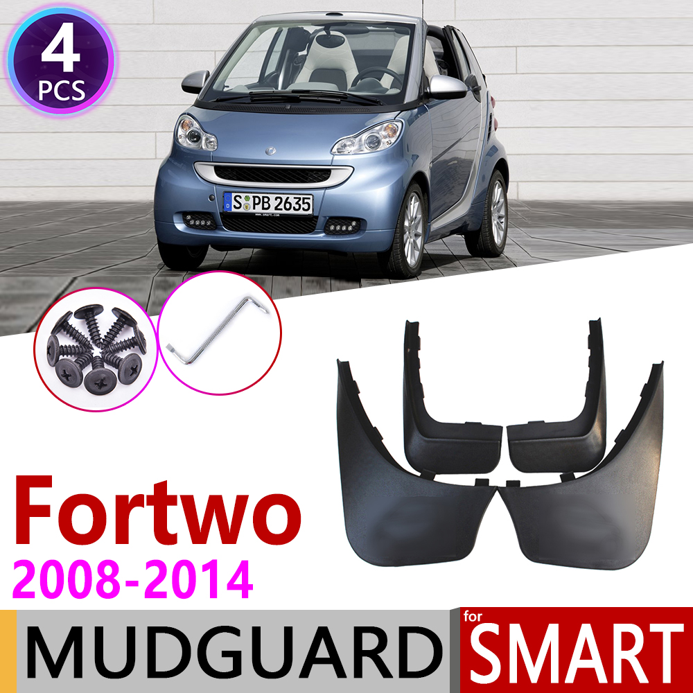 Car Mudflap For Smart Fortwo W451 451 2008~2014 Fender Mud Guard Flaps Mudguards Accessories 2009 2010 2011 2012 2013 2014 2nd