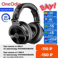 Oneodio-auriculares inalámbricos con micrófono, cascos estéreo de graves profundos plegables con Bluetooth V5.2, 80H de tiempo de reproducción, para PC y teléfono