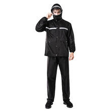 Upgraded version of the adult fashion waterproof raincoat unisex outdoor riding suit jacket breathable lining