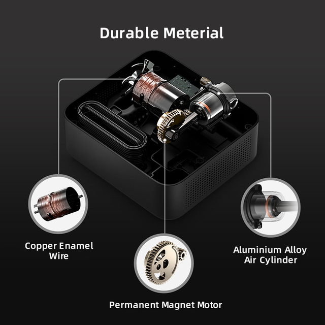 70mai Car Air Compressor Lite 70mai Protable Electric Car Air Pump Mini compressor Tire Inflator Auto Tyre Pumb 12V Data