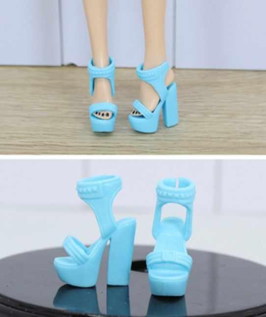 Yeni stiller bebek sarı mor mavi ayakkabı botları Barbie 1:6 bebek BBIA101