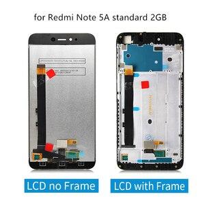 Image 4 - ل شاومي Redmi ملاحظة 5A lcd مجموعة المحولات الرقمية لشاشة تعمل بلمس مع الإطار ل Redmi ملاحظة 5A رئيس عرض 2/3/4 جيجابايت إصلاح أجزاء