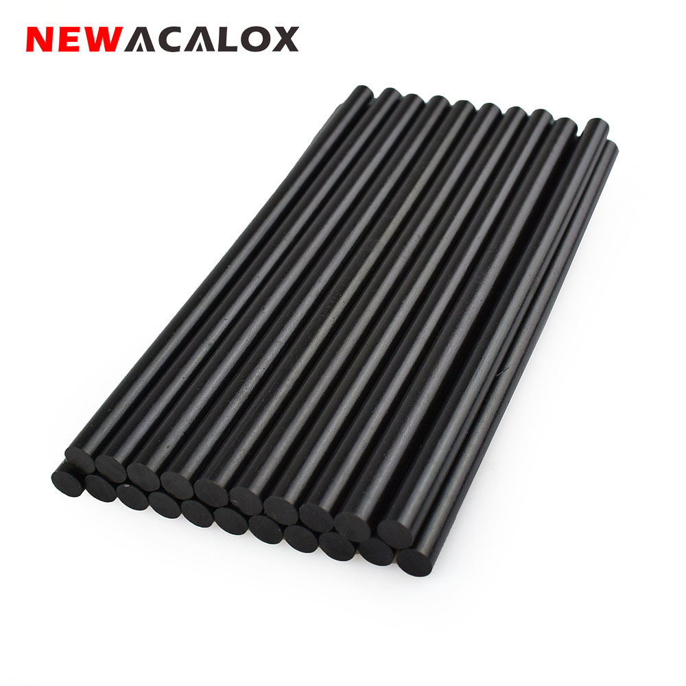 NEWACALOX 20 pz / lotto Nero Hot Melt Stick di colla 7mm 150mm Fai da - Utensili elettrici - Fotografia 1