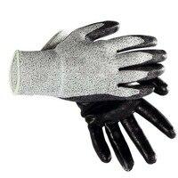 Luvas de trabalho de algodão luvas de proteção de trabalho de dedo completo resistente ao desgaste