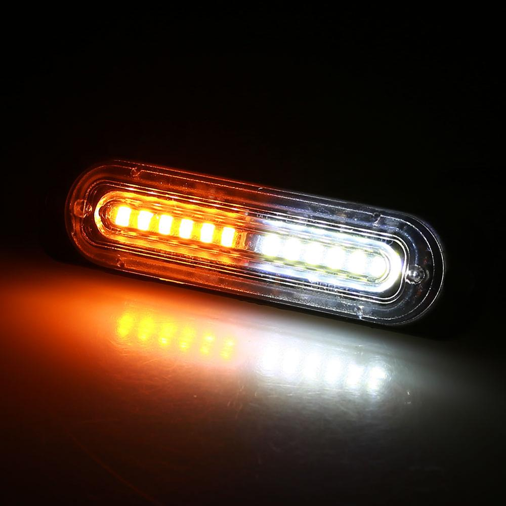 Ultra-thin Car Lights Assembly Amber 36W LED Police Lights Car Truck Emergency Side Strobe Warning Light