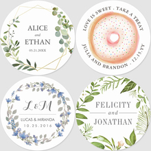 100 Pcs,Round, 3-7CM,Custom Personalized, Wedding Stickers, Invitations, Candy Favors Gift Boxes Labels, Birthday, Logo, Photo