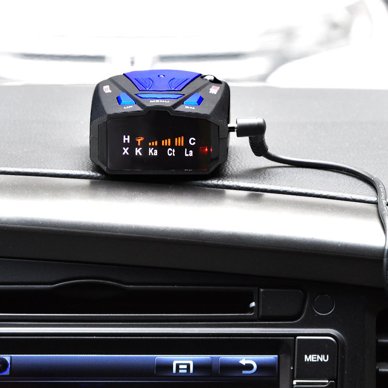 16 Band Vehicle Radar Detector 360 Degrees Speed Detector Voice Prompts Early Warning Stationary and Mobile Speed Detectors title=
