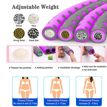 6 Parts Detachable Hola Hoops Sport Hoops Weight Lose Adjustable Waist Trainer Hoola Hoops Fitness Equipment Home Exercise 2