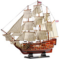 Craft ship large solid wood simulation sailing model assembly ornament Royal victory 80cm