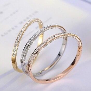 Женские свадебные браслеты со стразами