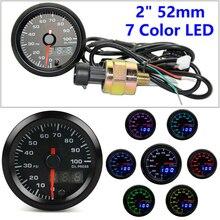 52MM/2 Digital & Pointer Display High Speed Stepper Motor Oil Pressure Gauge Car Modification Meter Boost Gauges