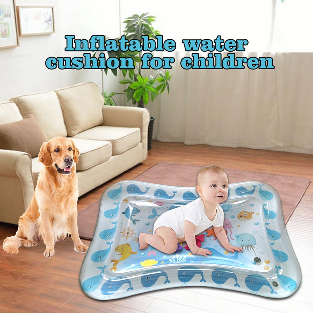 70CM Summer Baby Inflatable Water Playmat Infant Thicken PVC Play Mat Kids Funny Gym Dual Use Patted Pad Toy Infants Gym Playmat