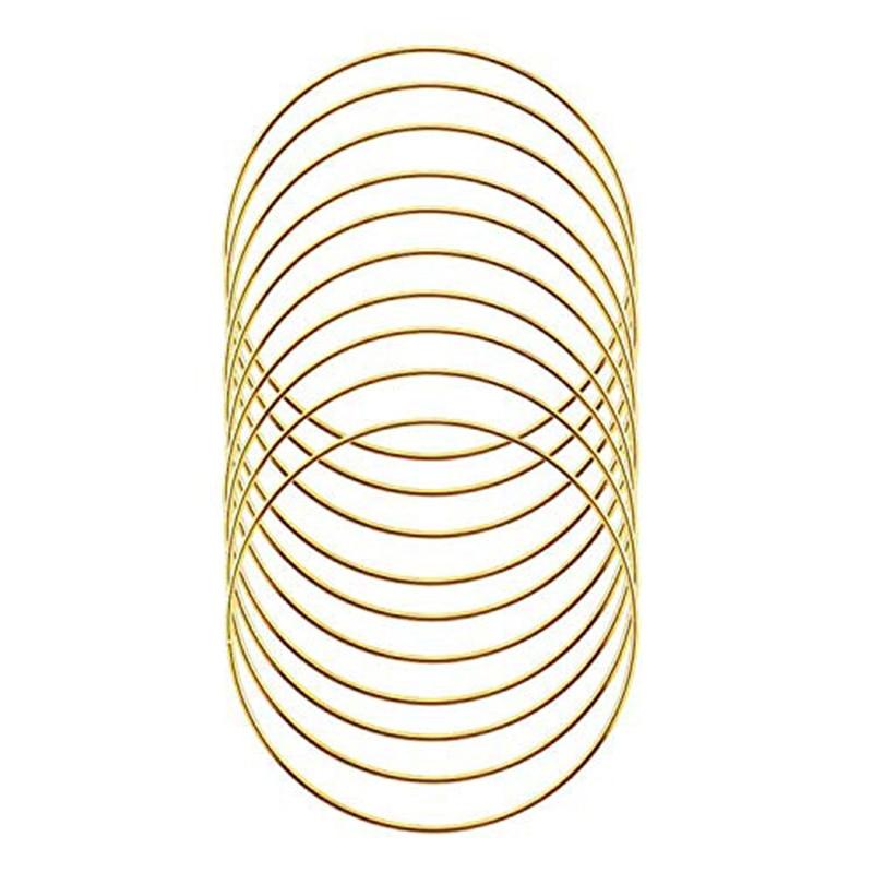 Brass Dream Catcher 18 Macrame Metal Craft Ring Hoop Simple Modern Gold Toned Wreath