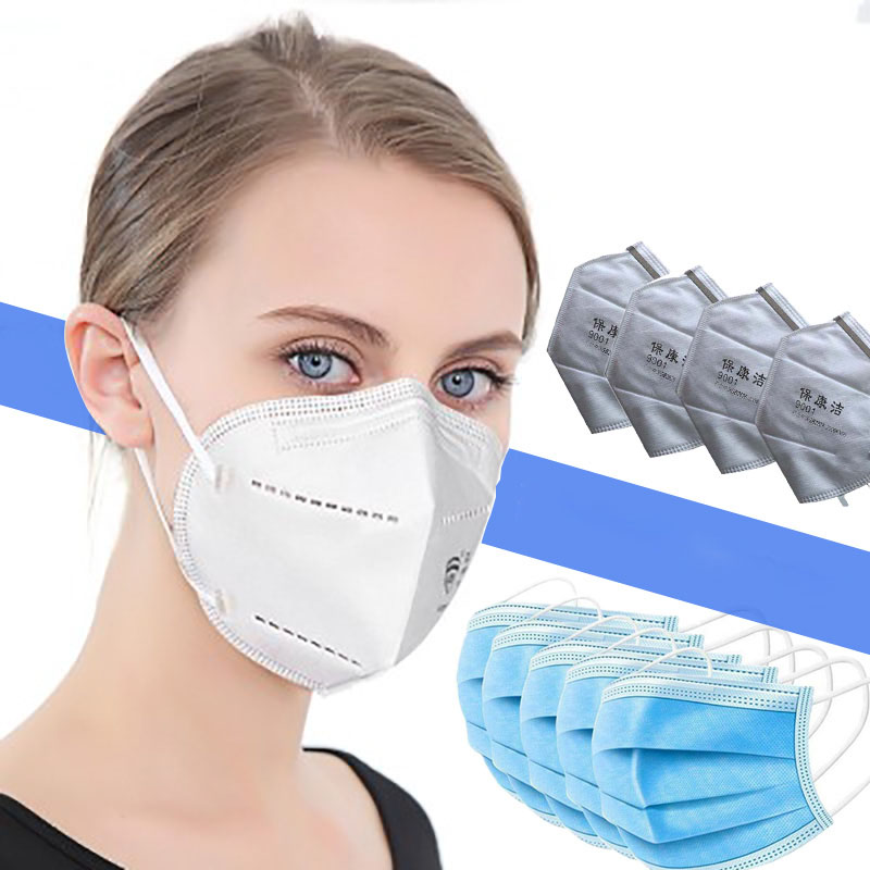 50 Pcs KN 95 Face Mask Face For Kf94 Mouth Mask Non Woven Disposable Anti-Dust Earloops N95 Masks
