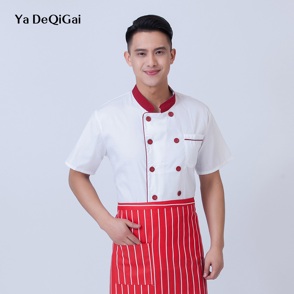 Breathable Chef Shirts Buffet Bakers Western Restaurant Hotel Uniform Bakery Dessert Cafe Sushi Costume Chef Restaurant Uniform