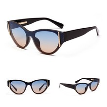 Fashion Brand Designer Vintage Flat Top Sunglasses