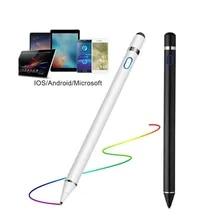 스타일러스 연필 애플 IPad 안 드 로이드 태블릿 펜 드로잉 연필 2in1 용량 성 스크린 터치 펜 휴대 전화 스마트 펜 액세서리