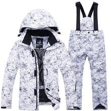 Ветрозащитная теплая утепленная куртка на молнии для мальчиков и девочек, штаны, зимний детский лыжный костюм для катания на сноуборде, комплект из водонепроницаемого материала, модная детская одежда