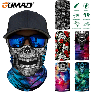 3D Seamless Skull Magic Tube Neck Gaiter Cover Face Sports Mask Camping Cycling Fishing Warmer Bandana Headband Scarf Men Women