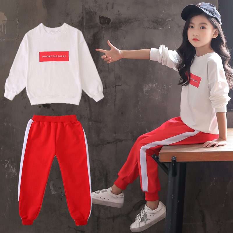 Children Clothing 2019 Autumn Winter Toddler Girls Clothes Costume Outfit Suit Kids Clothes Tracksuit For Girls Clothing Sets in Clothing Sets from Mother Kids