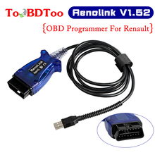 цена на Programmer Renolink OBD2 For Renault ECU Programmer V1.52 Car Diagnostic Cable Key/Airbag/ECM/UCH/Programmer