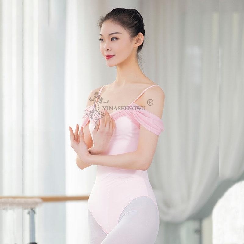 Women Ballet Leotard Dance Wear Adult Soft Strap ShortSleeve Stretch Camisole Gymnastics Leotard Bodysuit Ballet Dress Dancewear