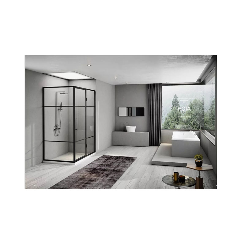 Customized shower room, domestic shower room, partition glass door, bathroom, dry and wet separation bath screen-2