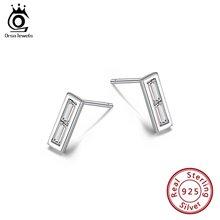Женские серьги гвоздики из серебра 100% пробы