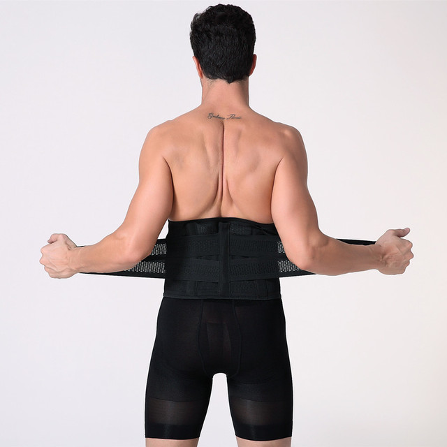 Men Compression Slimming Belts Body Shapers Belt Corset Fitness Girdle Waist Cincher Trimmer Abdomen Fat Burning Tummy Shapewear 3