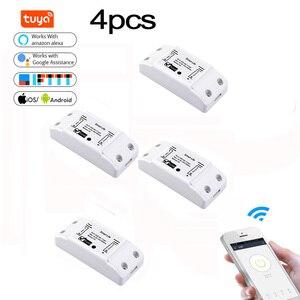 4pcs Tuya Wifi DIY Smart Wirel