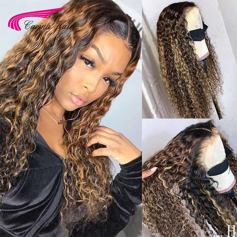 13*6 Keriting Renda Depan Rambut Manusia Wig dengan Bayi Rambut Ikut Campur Rasio 180 Kepadatan Renda Wig untuk Wanita