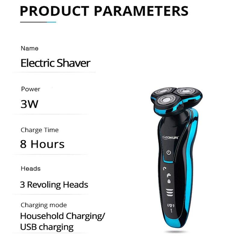 Rasoir A Barbe Electrique Rechargeable & Lavable 3