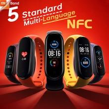 Xiaomi Mi Band 5 סטנדרטי או NFC צמיד כושר Blacelet נקבה Stress בריאות לב קצב שינה צעד לשחות ספורט צג מעורר