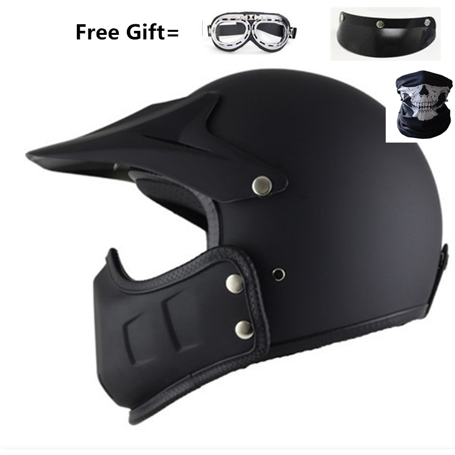 Half Open Face Motorcycle Helmet with  Detachable chin Scarf Biker Scooter Touring Helmet for Personality helmet