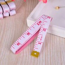 Cm e Polegada fita plástica com fundo branco e personagens cor-de-rosa régua macia 1m régua de medição telescópica/régua macia 1m