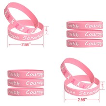 Bracelets de sensibilisation au Cancer du sein à la mode espoir foi Courage force bracelet rose bracelets en silicone(China)