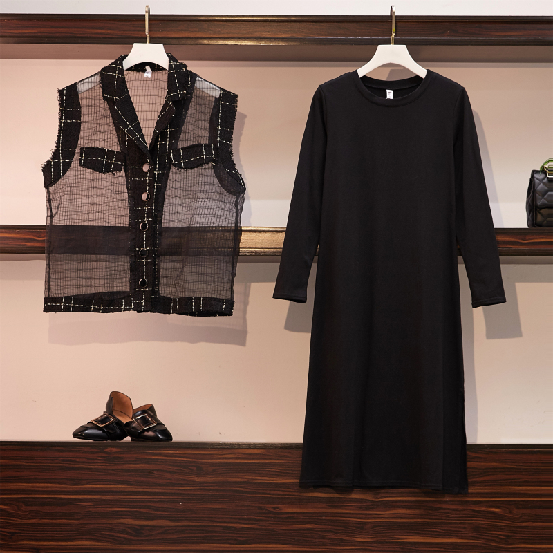 Fp8079 2019 New Autumn Winter Women Fashion Casual 2pieces Set Suit Big Plus Size Womens Clothing