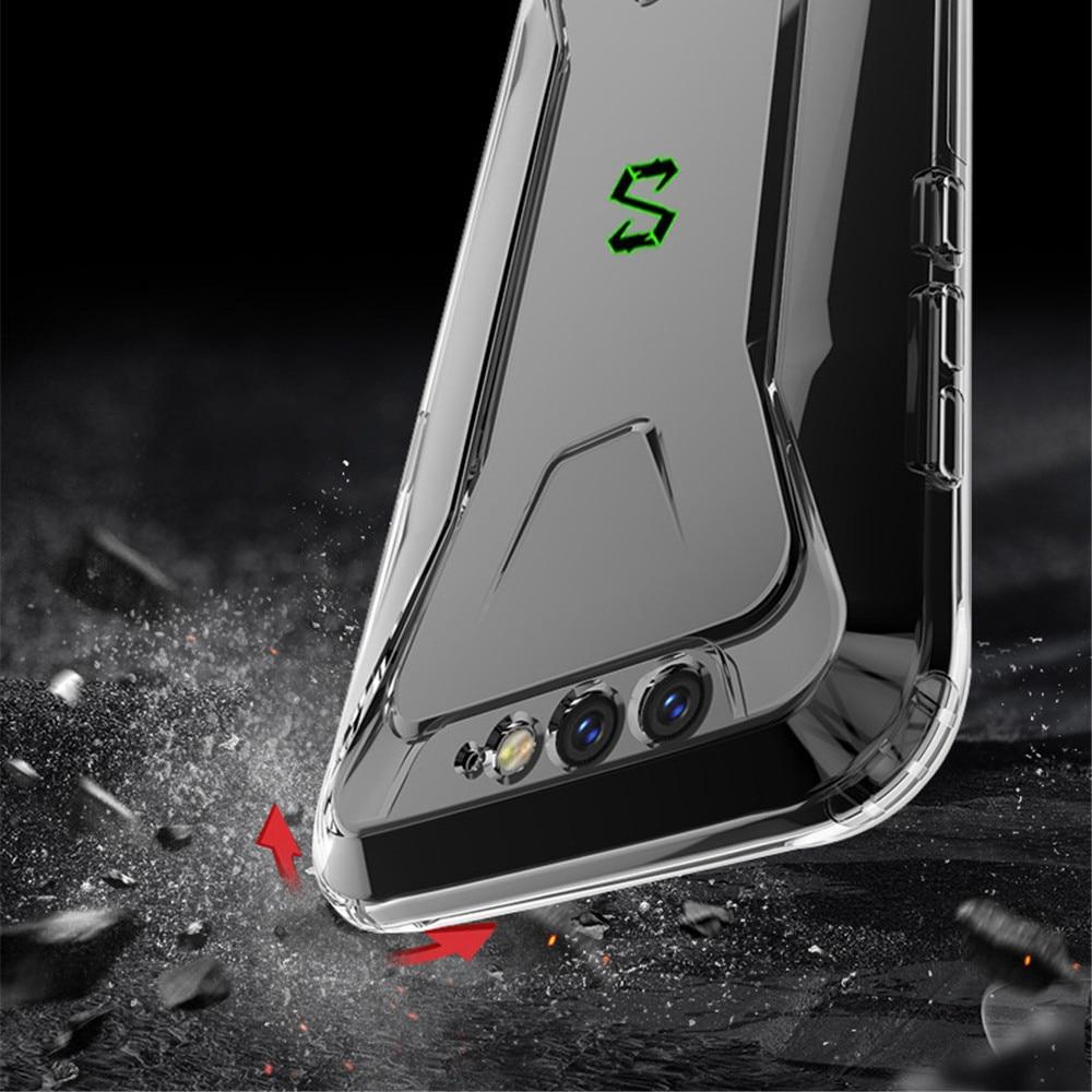 Gradient Transprent Mobile Phone Case for Xiaomi Black Shark helo 2 2pro Anti-fall Silicone Case for Xiaomi 10 Redmi k20 pro K20