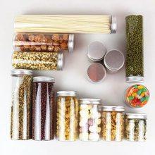 50 pçs/lote 250ml recipiente de maquiagem rangement plástico armazenamento garrafa latas para alimentos chá mel tubo plástico pet tampas alumínio