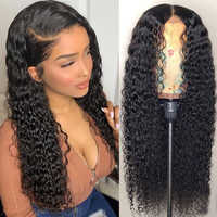 Virgo Brazilian Curly Human Hair Wig Remy Hair Glueless 13X4 Lace Front Human Hair Wigs Pre Plucked 150 Density Free Shipping