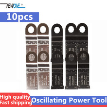 10pcs accessori per lame oscillanti per elettroutensili per la maggior parte delle marche di utensili multipli come AEG Ridgid Worx,Fein Supercut, alta qualità