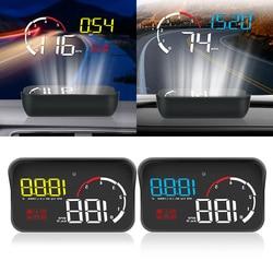 M10 A100 projektor przedniej szyby jazdy pojazd bezpieczeństwa wyświetlacz HUD OBD2 ostrzeżenie o przekroczeniu prędkości inteligentny alarm System samochód stylizacji w Wyświetlacz projekcyjny od Samochody i motocykle na