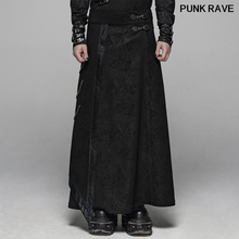 Gothic personality Men jacquard Long skirt trousers fashion