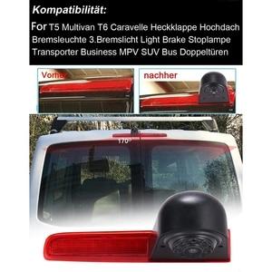 Автомобильный водонепроницаемый высокий тормозной светильник камера заднего вида для T5 T6 Caravelle Multivan Transporter Van 2010 2017 Камера для авто      АлиЭкспресс