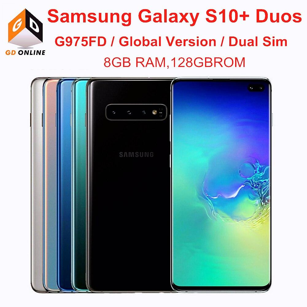 Samsung Galaxy S10 + S10 плюс Duos G975FD Dual Sim 8 гб оперативной памяти 128 гб ROM Octa Core 6,4