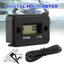 1pcs waterproof digital hour meter lcd display engine gauge
