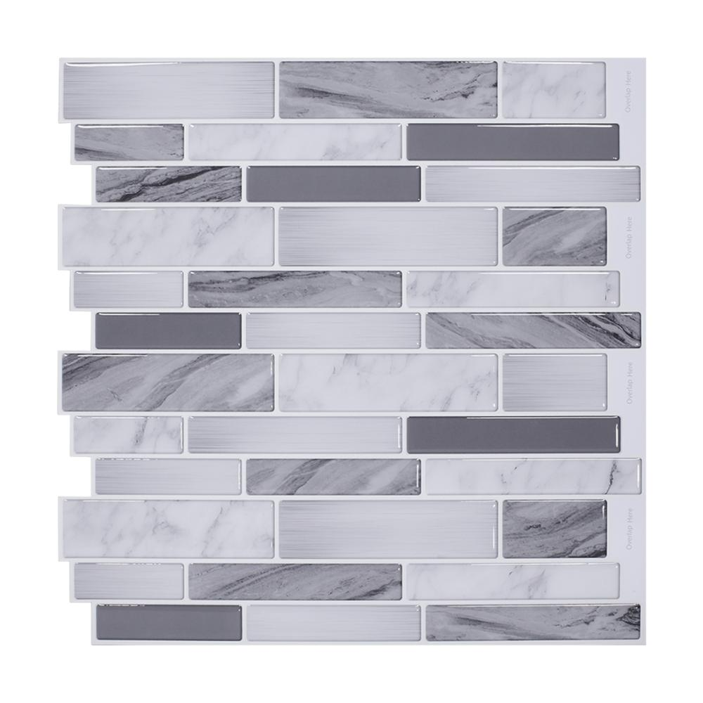Vividtiles Hot 3D Mable Sticker Kitchen & Bathroom Choice Heat-resist Waterproof Self Adhesive Material Bric Wallpaper for Wall