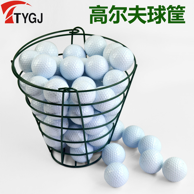 Ttygj Genuine Product Golf Steel Wire Structure Green Baking Varnish 50 Capsules Ball Basket Practice Stadium Equipment